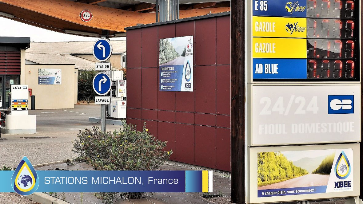Petrol stations Michalon, France - Natural fuel technology