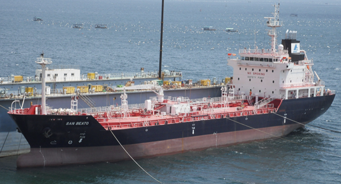 ABC Maritime ship at sea with XBEE fuel onboard